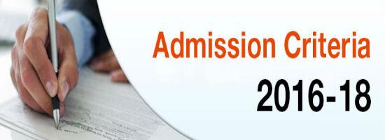 Admission Criteria1